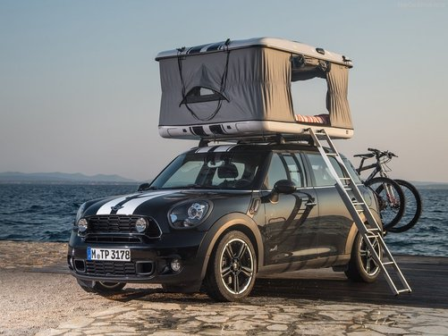Mini Countryman ALL4 Camp e Mini Clubvan Camper, tre concept per chi ama il campeggio