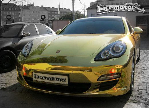 Porsche Panamera Gold tuning by Facemotors