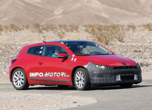 Volkswagen Scirocco foto spia dei primi test