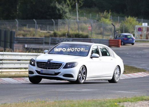 Mercedes Classe S XL foto spia - Foto 3 di 16
