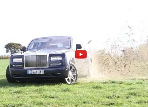 Rolls Royce Phantom in video in versione auto da rally