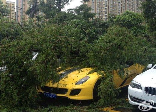 Ferrari 599 GTO schiacciata da un albero in Cina - Foto 1 di 6