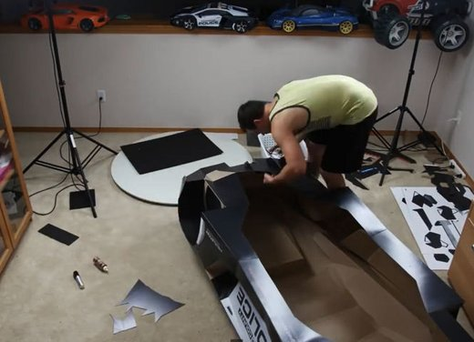 Lamborghini Aventador in cartone ecco il video di come è stata creata - Foto 17 di 18