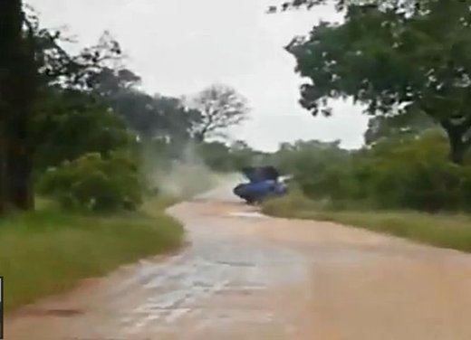 Elefante attacca un'auto in Sudafrica video - Foto 12 di 14