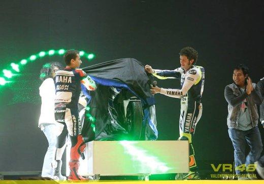 Valentino Rossi, presentazione della nuova Yamaha M1 a Jakarta - Foto 9 di 11