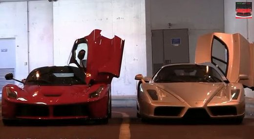 LaFerrari contro una Ferrari Enzo in video