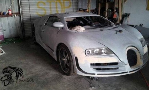 Bugatti Veyron Super Sport replica in Messico
