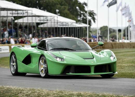 Ferrari LaFerrari verde del cantante Jay Kay a Goodwood Festival of Speed 2014