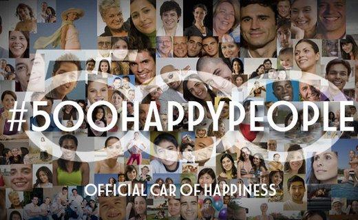 Fiat 500 festeggia il settimo compleanno con #500happypeople