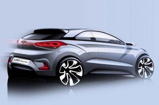 Hyundai i20 Coupè prima immagine teaser