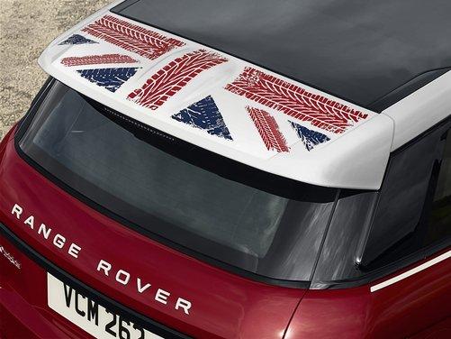 L'indiana Land Rover celebra la Union Flag inglese con la Evoque