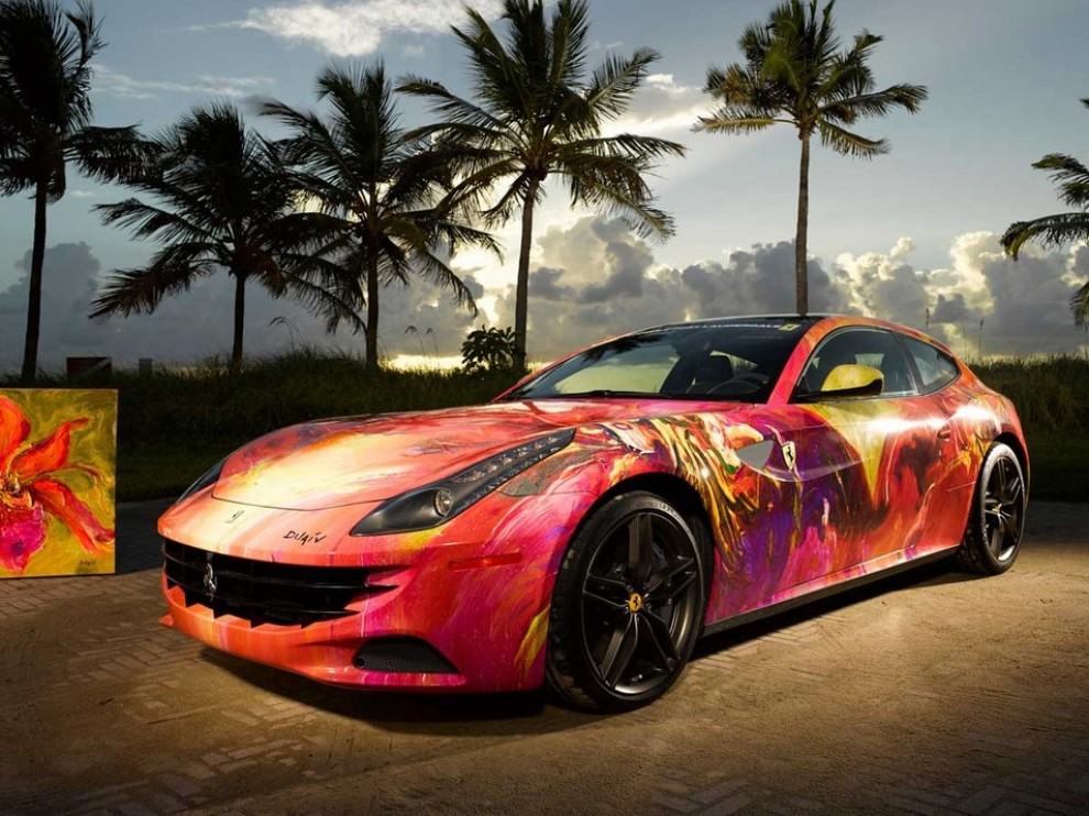 Ferrari FF trasformata in un'opera d'arte - Foto 8 di 25