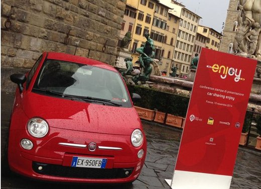 Le Fiat 500 rosse del car sharing Enjoy Eni arrivano a Firenze