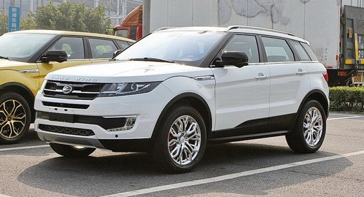 Land Rover Evoque clonata dalla Land Wind X7 cinese