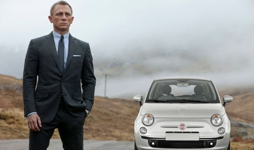 Fiat 500 nel nuovo film di James Bond