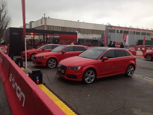 Audi A3 g-tron e A3 e-tron al Motor Show di Bologna 2014