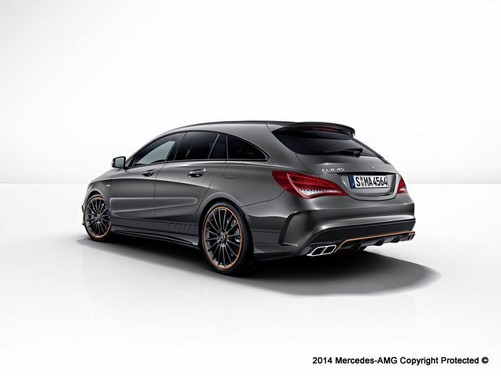 Mercedes CLA 45 AMG Shooting Brake Black-Orange Edition