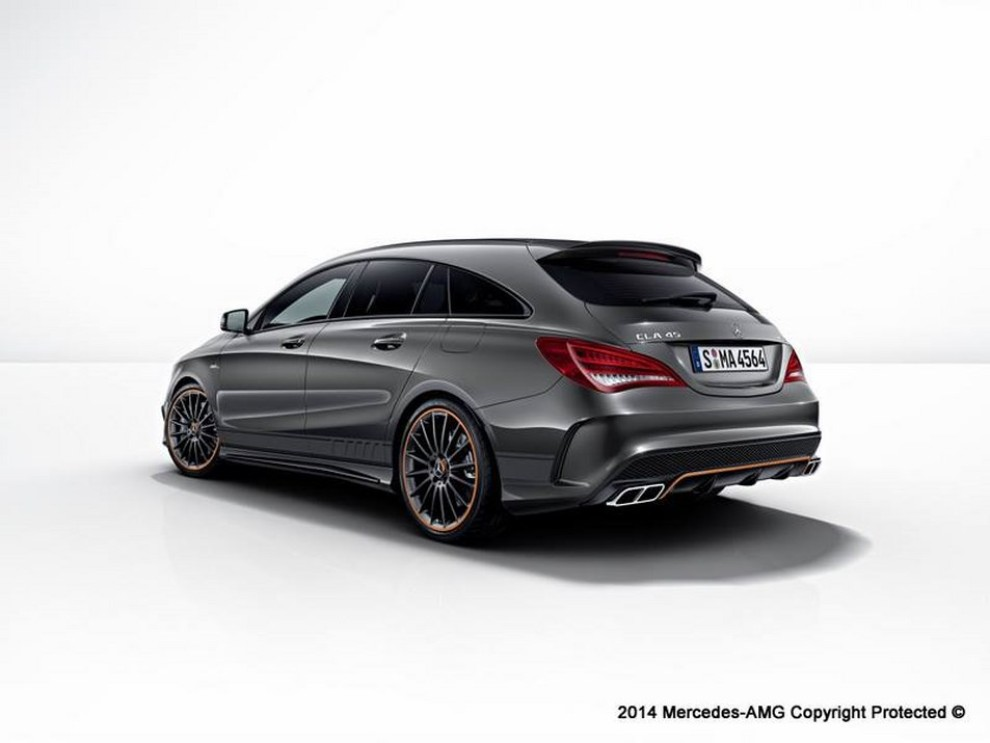 mercedes cla 45 amg shooting brake black orange edition infomotori. Black Bedroom Furniture Sets. Home Design Ideas