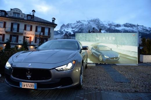 Maserati Winter Tour parte a Cortina con Quattroporte e Ghibli S Q4