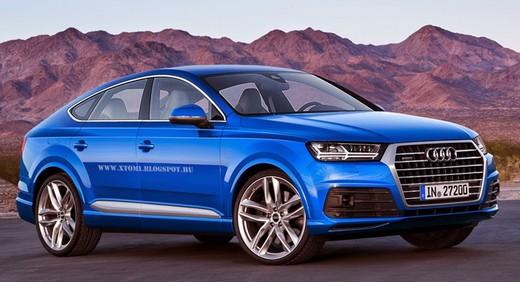 Audi Q8, rendering con il design del nuovo Q7