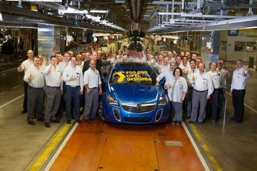 Prodotta a Rüsselsheim  la 750.000a Opel Insignia