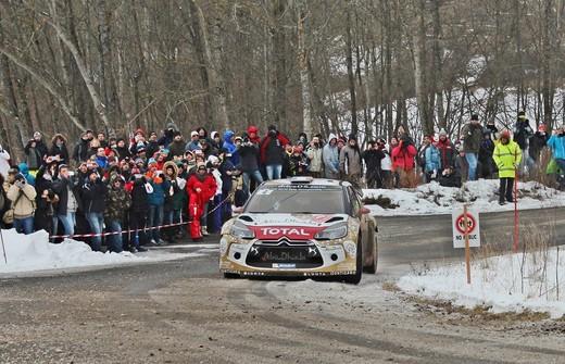 Rally di Montecarlo: giornata nera per Sebastien Loeb e la sua DS3, bene Ogier e la sua Volkswagen