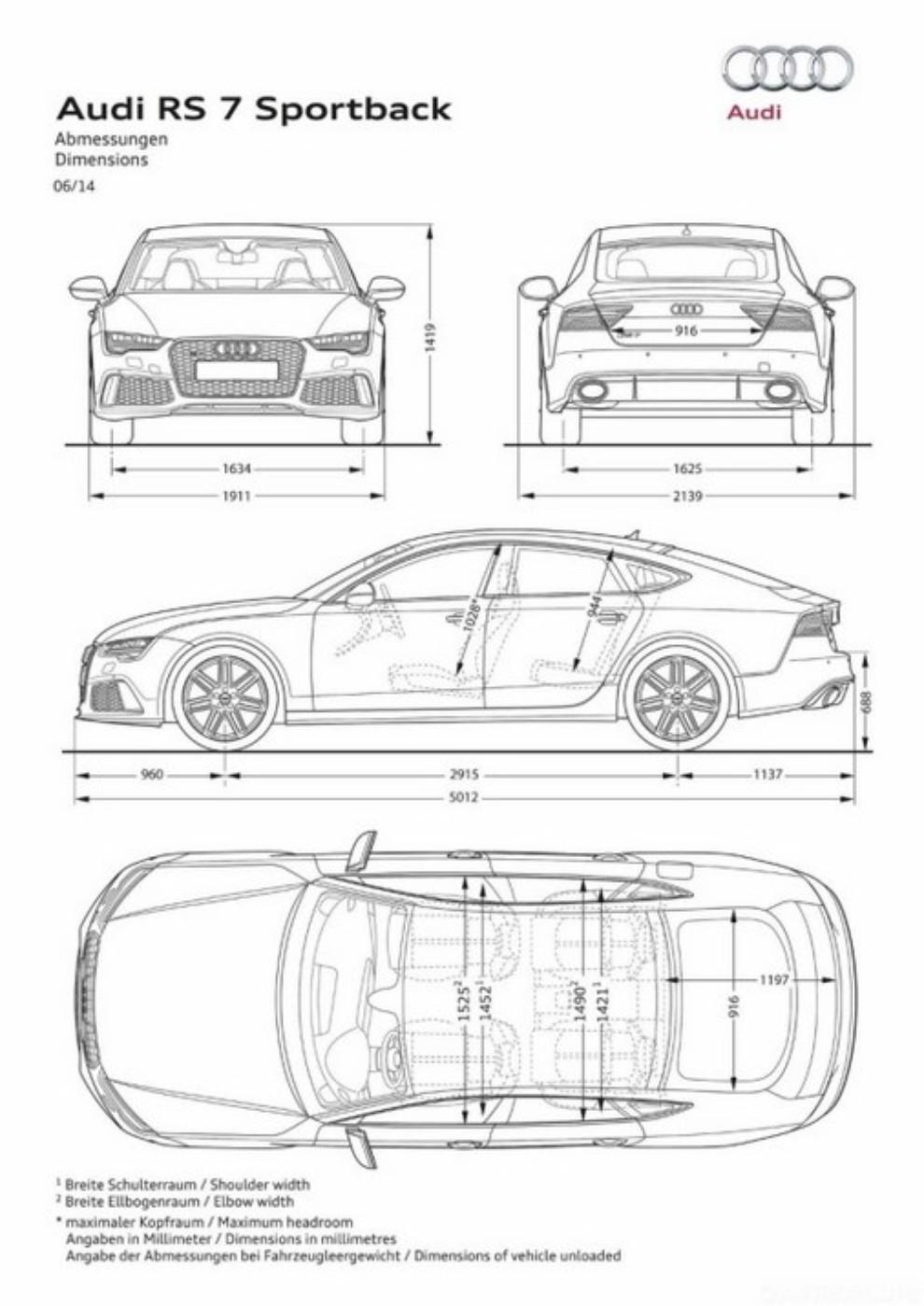 La gamma di Audi A7 si completa con le sportivissime S7 ed RS7 - Foto 7 di 17