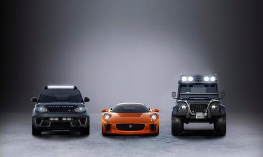 """Jaguar e Land Rover con le loro auto in """"Spectre"""", il nuovo film di James Bond"""
