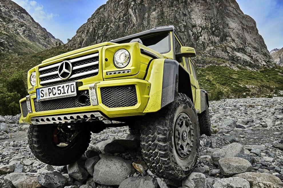 Mercedes G500 4×4², con trazione integrale al quadrato - Foto 8 di 10