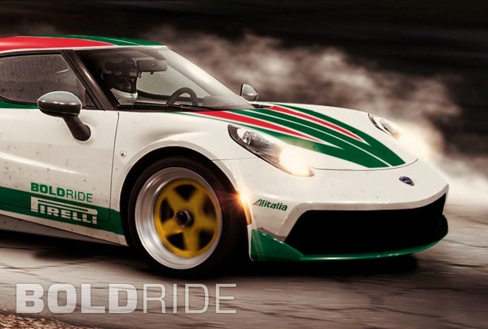 Lancia Stratos il rendering su base Alfa Romeo 4C - Foto 1 di 4