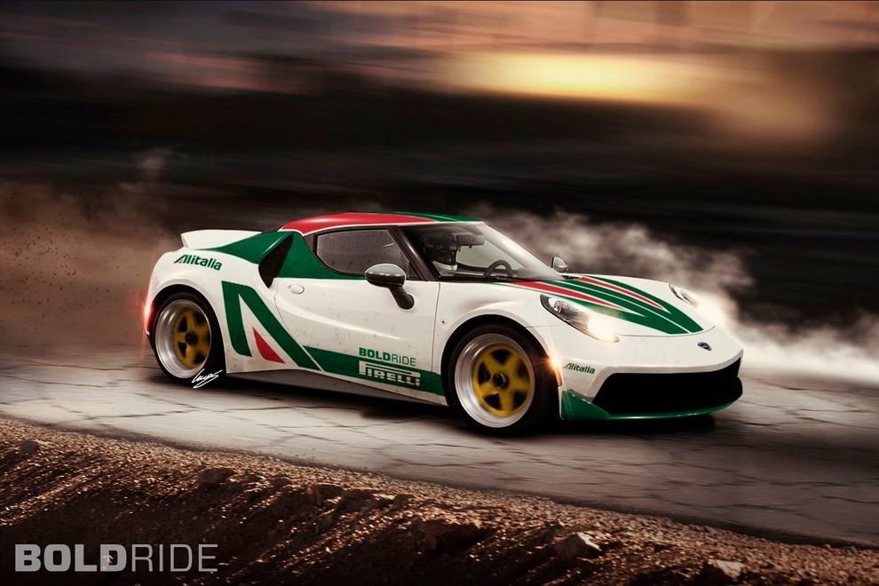 Lancia Stratos il rendering su base Alfa Romeo 4C - Foto 2 di 4