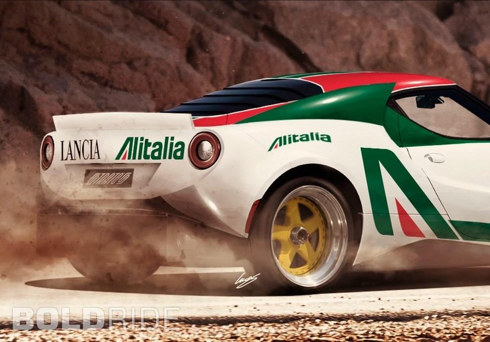 Lancia Stratos il rendering su base Alfa Romeo 4C - Foto 4 di 4