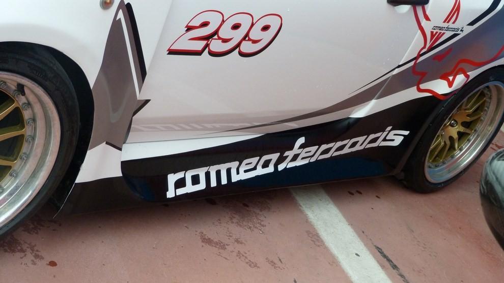Romeo Ferraris Cinquone Corsa Stradale prova su pista - Foto 3 di 9