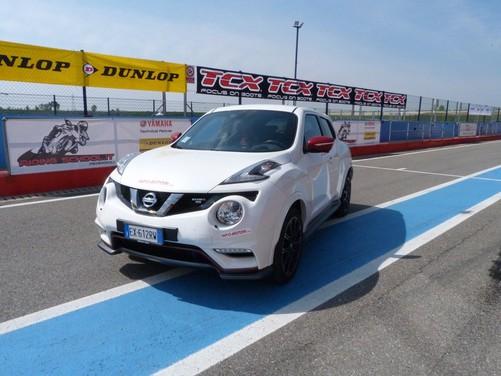 Nissan Juke Nismo RS prova su pista