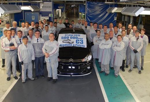 Citroen C3, 500.000 unità prodotte a Poissy