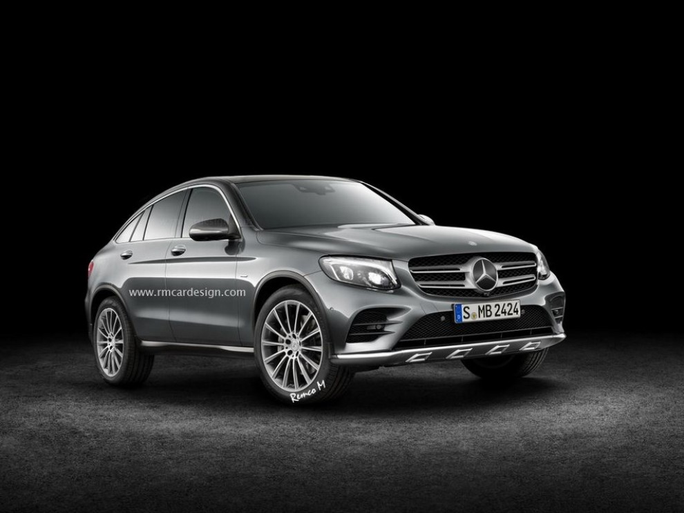 Mercedes-Benz GLC Coupe rendering - Foto 2 di 2