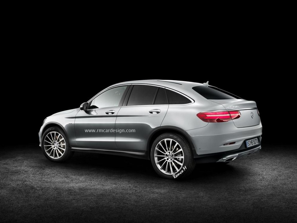 Mercedes-Benz GLC Coupe rendering - Foto 1 di 2