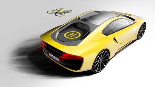 Σtos: l'auto di Rinspeed la guida un drone