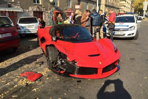 Ferrari LaFerrari, incidente a Budapest