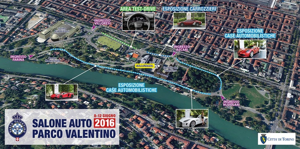Salone dell'auto Parco Valentino 2016 - Foto 1 di 9