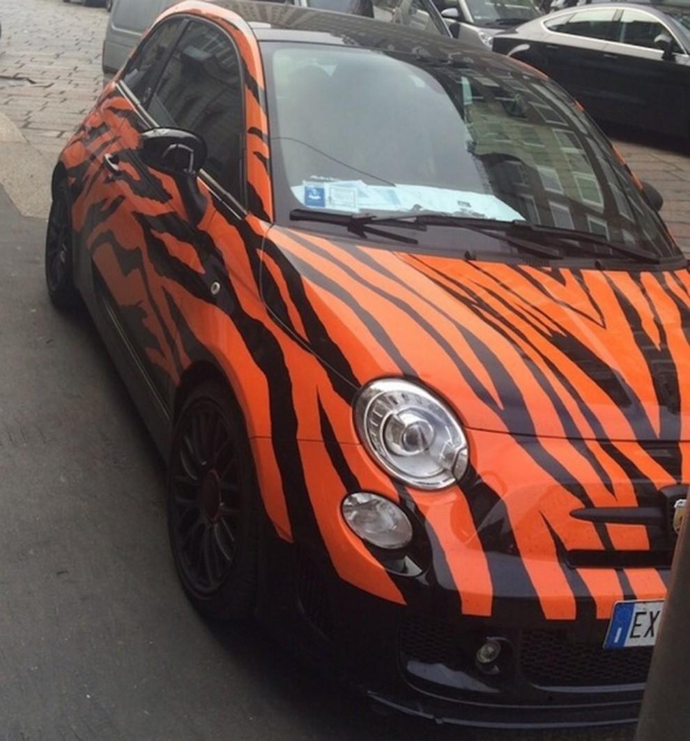 500 tiger di lapo elkann rubata e ritrovata grazie a for Auto di lapo elkann