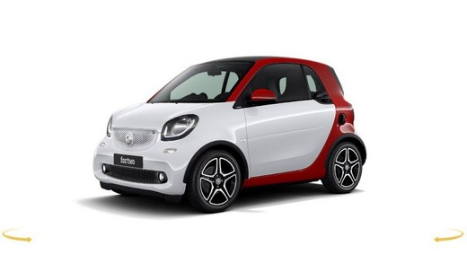 Smart ForTwo e Smart ForFour acquistabili on-line