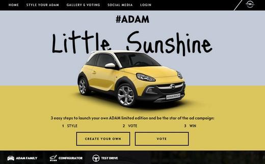 Opel lancia il contest per la personalizzazione di Adam