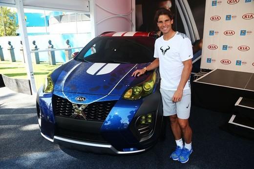 Kia Sportage CUV X-Car presentata da Rafael Nadal all'Australian Open 2016